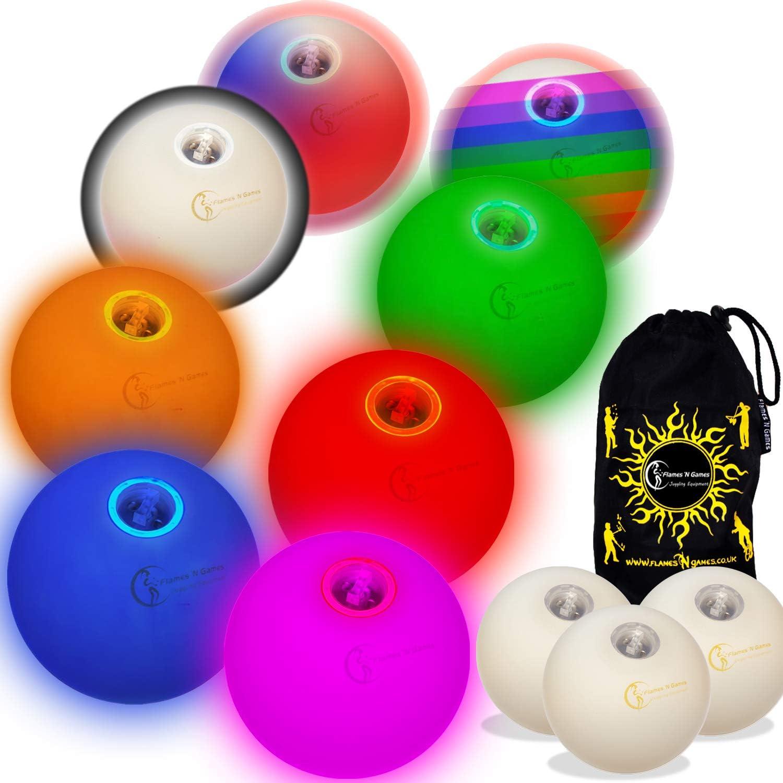 Cheap bargain Flames N Games Pro [Alternative dealer] LED Glow Battery Ultra Balls Juggling Bright