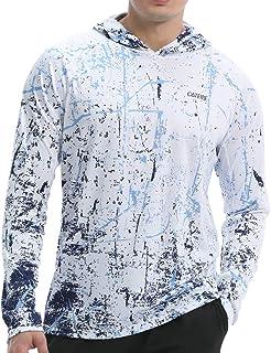 CATEIBE Men's UPF 50+ Sun Protection Hoodie Shirt Long Sleeve SPF Fishing Outdoor UV Hiking Shirts Lightweight.