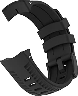 patrohoo Bands for Suunto 9 Watch. Silicone Strap Watch Band for Suunto 9 Baro Watch,Soft Rubber for Women Man.