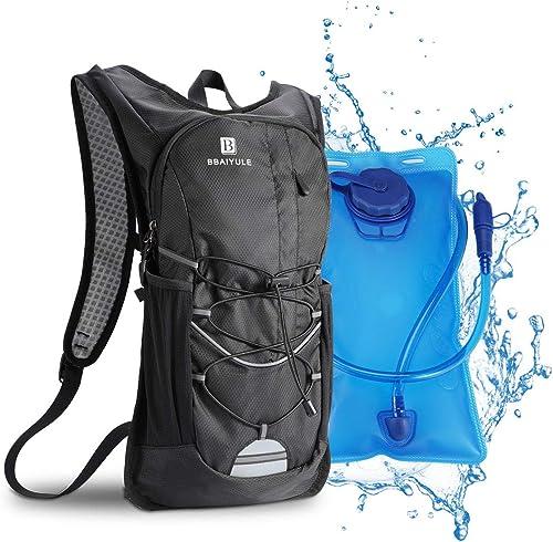 Mochila de hidratación de 2L con bolsa de bicicleta de vejiga de hidratación para correr al aire libre Ciclismo Cicli...