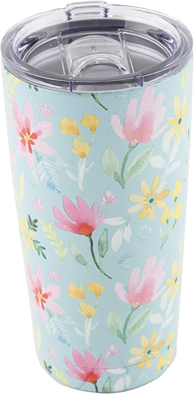 Cambridge Silversmiths E95062PTCB2R Purpose Doublewall Tumbler 20 Ounce Spring Daisies