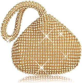 Shoulder Bag Ladies Handbag Diamond Evening Bag Fashion Party Clutch Trend Personality Bridesmaid Nightclub Dress Bag Handbag Clutch (Color : Gold, Size : One Size)