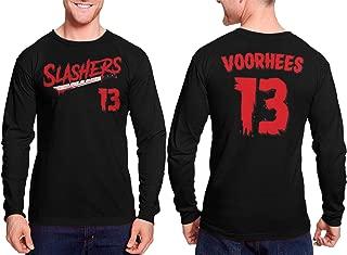 Haase Unlimited Slashers Voorhees 13 Jersey - Horror Movie Unisex Long Sleeve Shirt