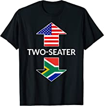 South African Two Seater Dad Joke Meme Gift American Flag T-Shirt