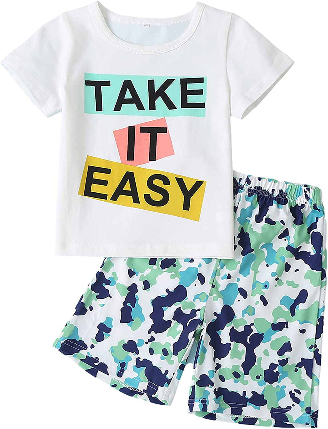 Toddler Baby Boys Outfits Short Sleeve T Shirt Shorts Clothes Sets