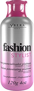 Ybera Keratin Hair Straightening Treatment Fashion Stylist Platinum | Smooth System | Extreme Shining Hair | Formulated for Blond, Bleached Hair | Enhanced with Omega | 4 FL Oz