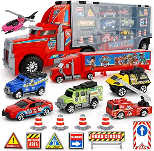 Precio por piso Yingjianjun Juguetes para Camiones, Modelo de Juguete de de de aleación Modelo de Juguete Juguete - Camión contenedor de Autos para Niños (Style   2)  mejor precio
