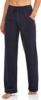 Women's Relaxed Fit Dri-More Core Cotton Blend Yoga Pants...