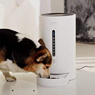 Petmii Automatic Pet Feeder Food Dispenser for Dogs, Cats & Small Animals – Features Distribution Alarms, Portion Control & Voice Recording – Timer Programmable Up to 4 Meals a Day