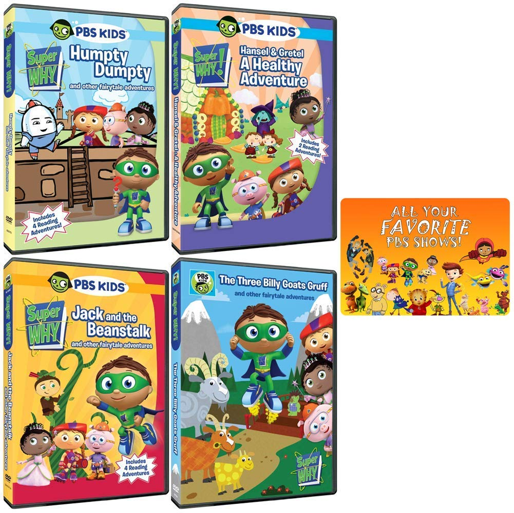 Amazon Com Super Why Tv Series The Fairytale Collection Episodes Interactive Games Music Videos Printable Coloring Pages More Bonus Movies Tv