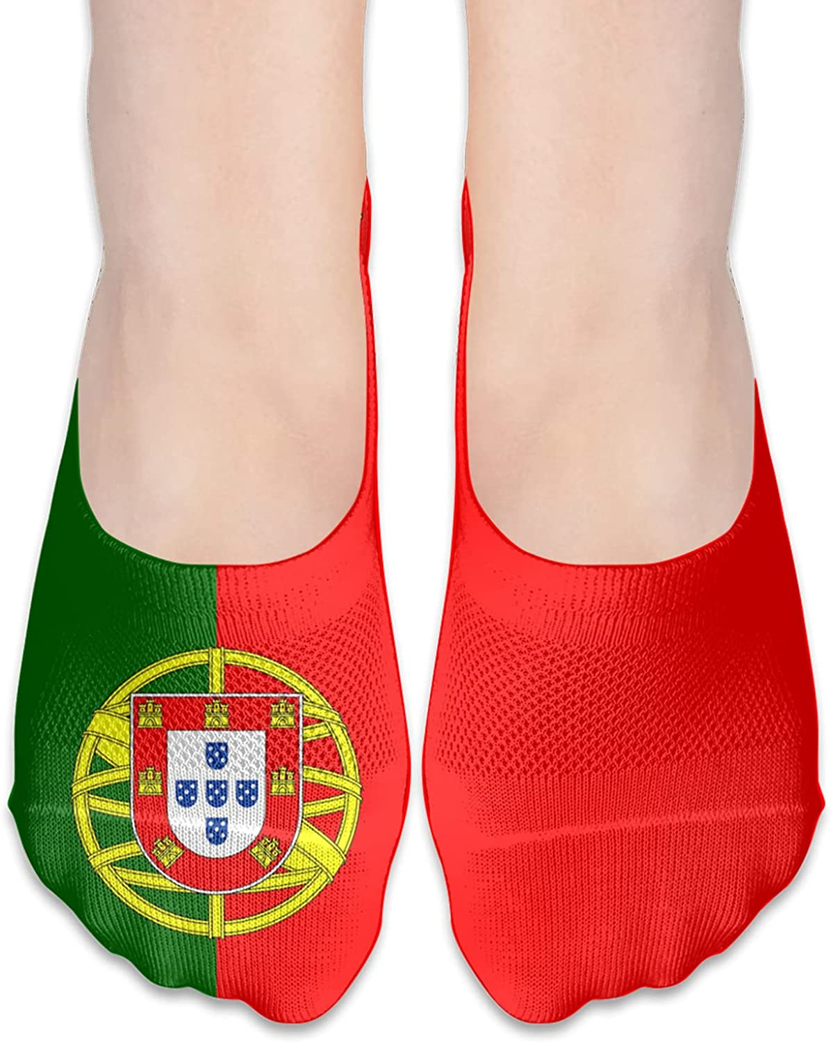 Portugal Portuguese Flag Unisex Adult Breathable Liner Socks Non Slip No Show Ankle Socks Low Cut Invisible Socks
