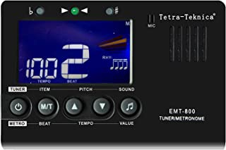 Tetra-Teknica Essential Series EMT-800 LCD Display 3in1 Digital Metronome, Tuner and Tone Generator for Chromatic, Guitar,...