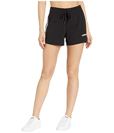 adidas Essential 3-Stripes Shorts (Black/White) Women