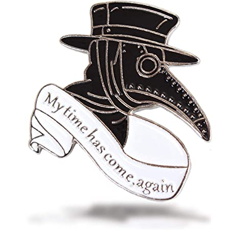 Plague Doctor Enamel Pins Steampunk Plague Doctor Bird Mask Enamel Pin for Backpacks Clothing Bag Decor