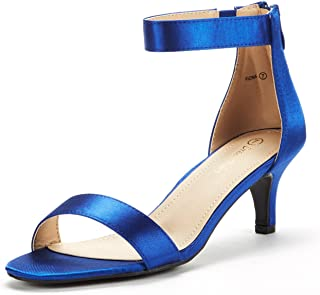 DREAM PAIRS Womens Fiona Fashion Stilettos Open Toe Pump Heeled Sandals