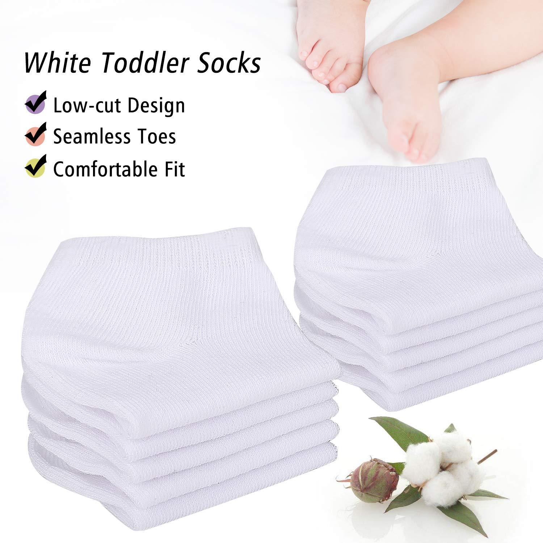 Toddler Socks 16 Pack Kids Low Cut Athletic Ankle Socks Baby Boys Girls Breathable Socks Bulk