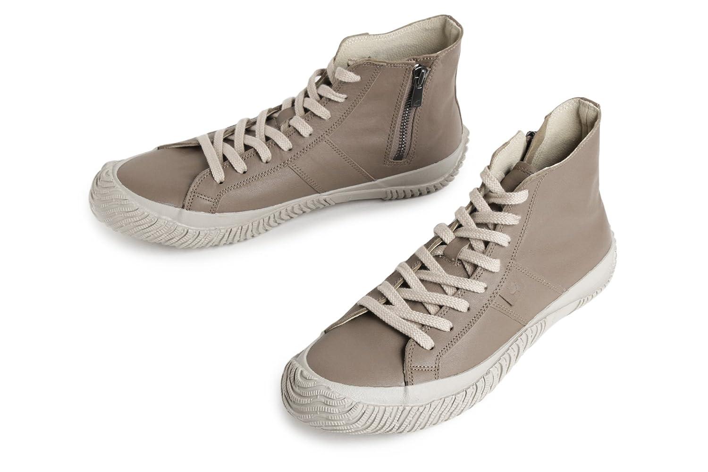 [スピングルムーブ] メンズ レディース (SPM-443 DARK GRAY ダークグレー) カンガルーレザー ハイカット スニーカー 靴