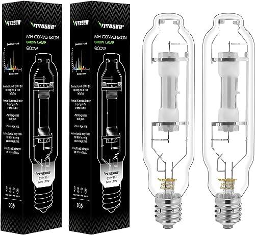 high quality VIVOSUN sale 2-Pack 600 Watt Metal Halide MH Conversion Grow Light Bulb Lamp - Enhanced new arrival Blue and Violet Spectrums CCT 4200K, 60,000 Lumens online sale