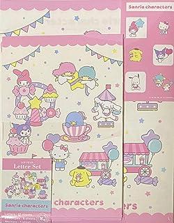 مجموعة أحرف Sanrio مكونة من 12 ورقة كتابة + 6 مظاريف + 7 ملصقات قرطاسية يابانية (متنزه الترفيه)