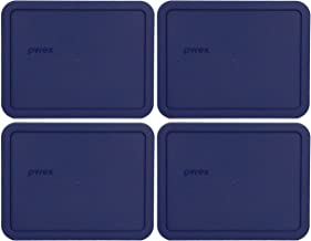Pyrex 7211-PC 6 Cup Blue Rectangle Plastic Lid - 4 Pack