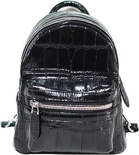 Authentic M Crocodile Skin Womens Belly Clutch Bag Backpack Handbag