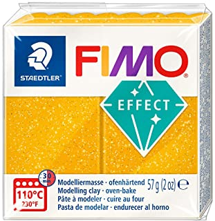 Staedtler Fimo Effect 8020-112 Oven Hardening Modelling Clay 56g - Gold Glitter