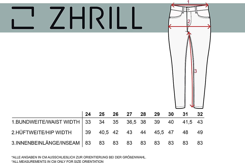 Zhrill Mia Rock Denim Pantalon pour femme W9051 - Noir.