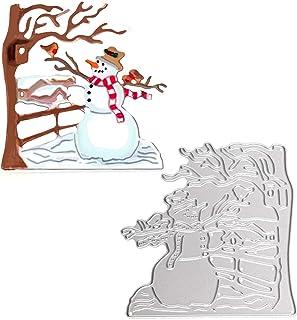 OOTSR Matrices de Découpe de Bonhomme de neige de Noël, Métal Bricolage Coupe Die Carte gaufrage Die Scrapbooking Album Pa...