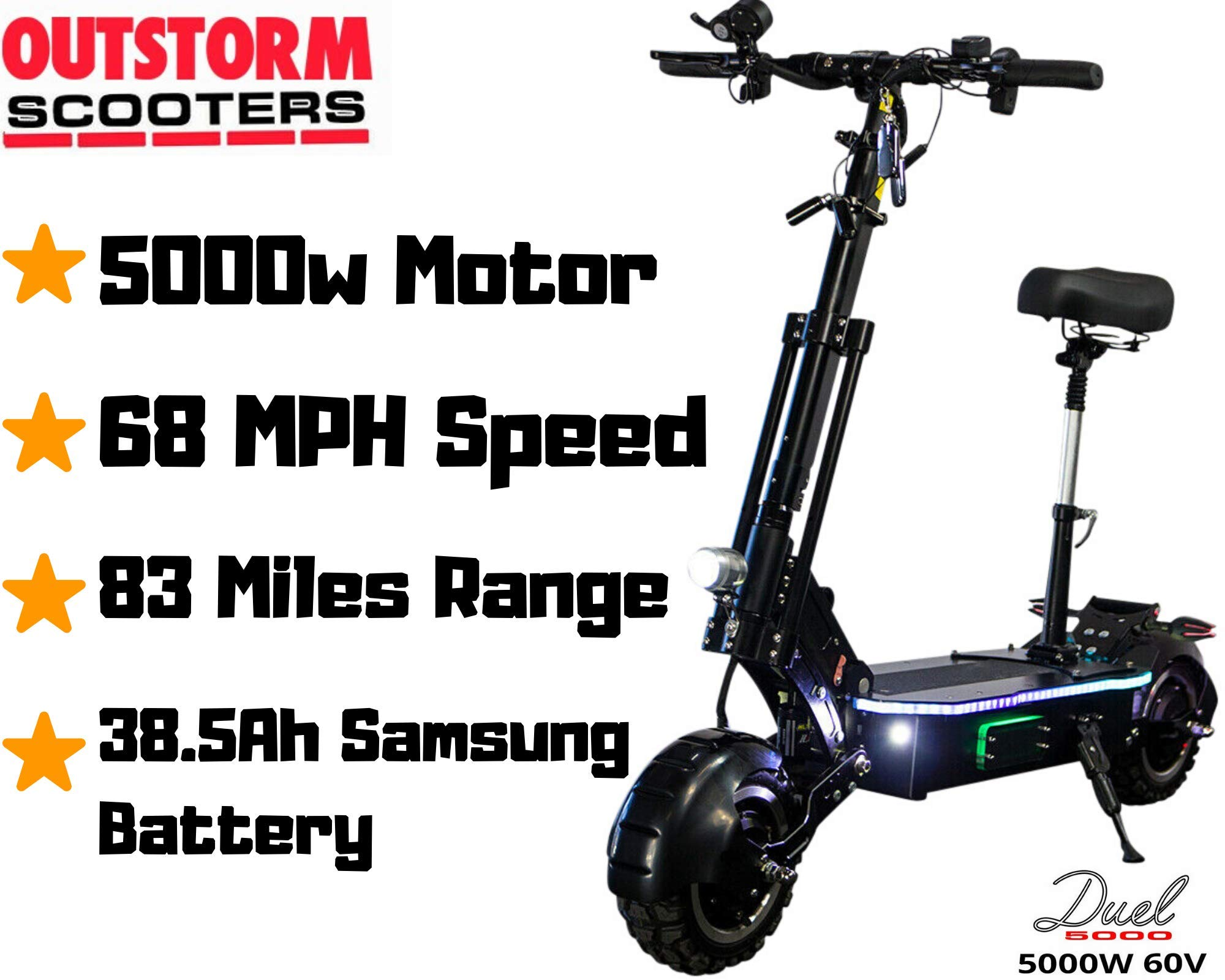 OUTSTORM Electric Scooter Foldable 26 38 5Ah