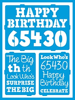 DecoArt Self-Adhesive Glass Series Americana Stencils, 6 by 8-Inch, Birthday Milestones