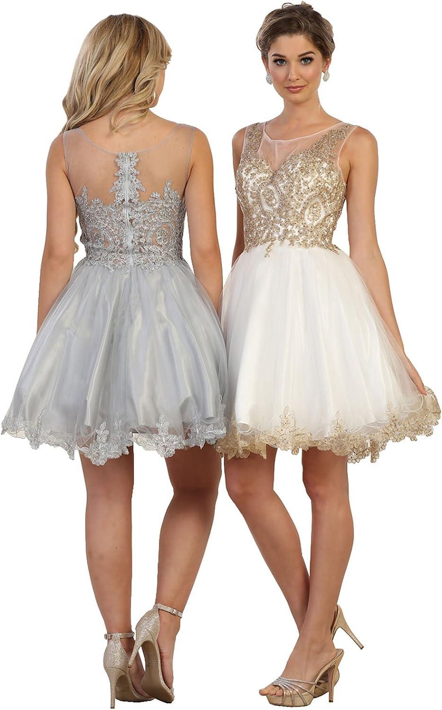 May Queen MQ1434 Cute Prom Short Designer Dress