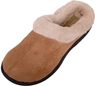 ABSOLUTE FOOTWEAR Ladies/Womens Slip On Slippers/Mules/Indoor Shoes with Warm Faux Fur Inners