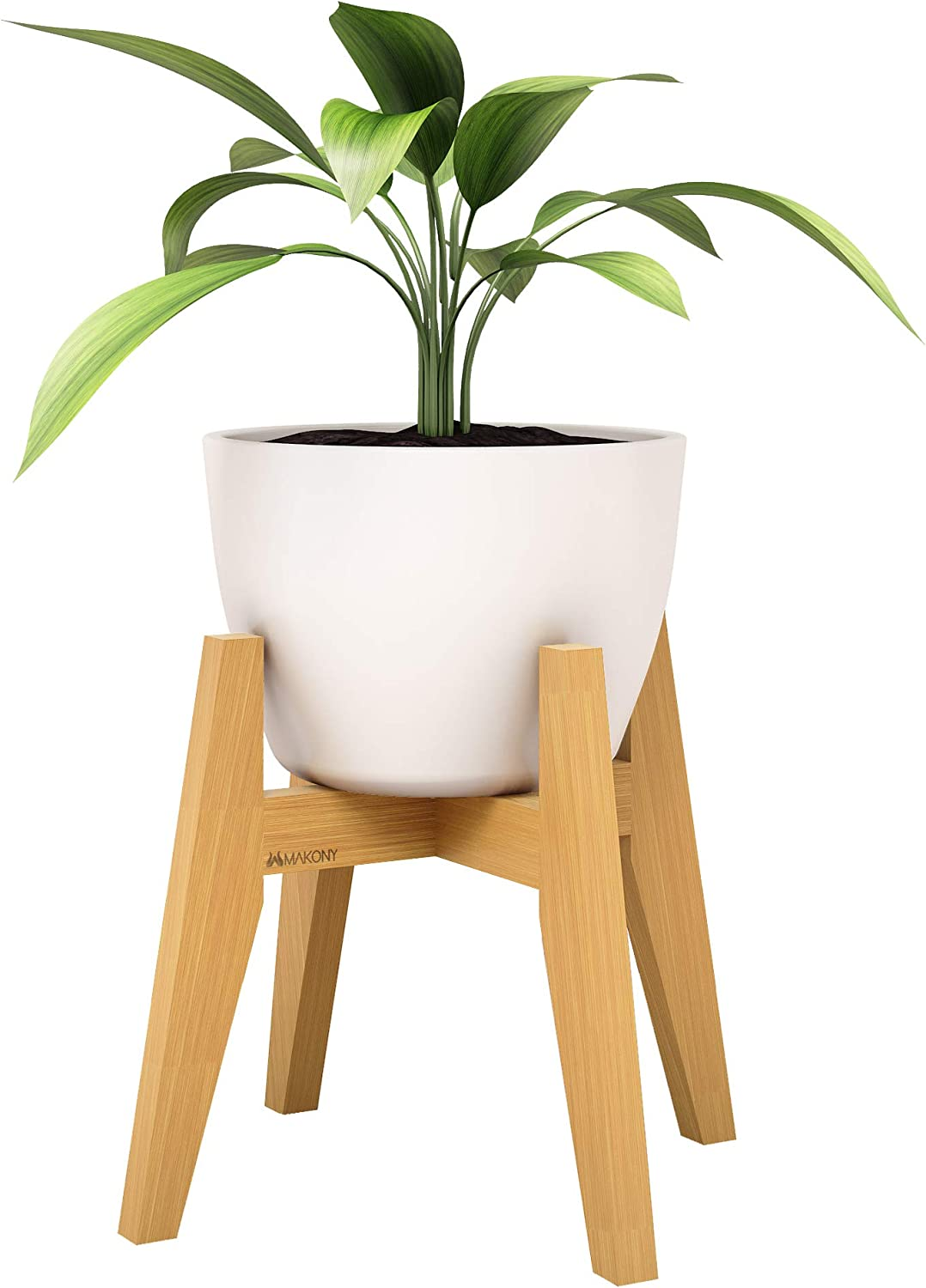 """Mid Century Max 63% OFF 10"""" Bamboo Wood Plant Indoor Stand Boston Mall Wooden Flow"""