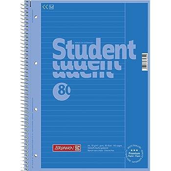 10x Brunnen Collegeblock Student 80 A4 LINIERT