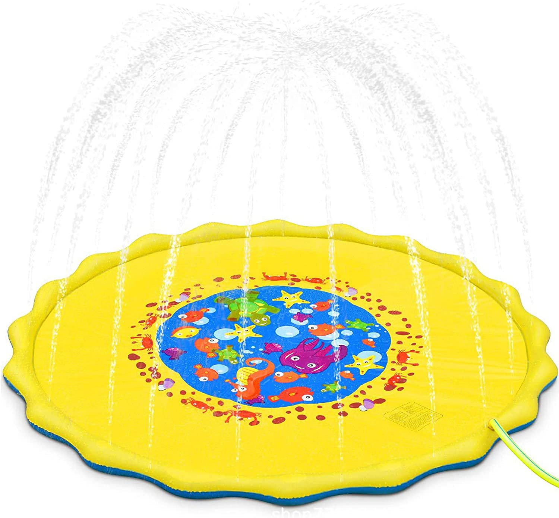 Seasonal Wrap Introduction ZPYXBH Water Play Mat Splash Inexpensive Pad for Toddler Children Infla Baby