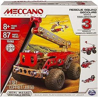 Spin Master Meccano 6026714 - Fuerzas de Seguridad al Rescate, 3 Modelos Distintos, Juego de construcción