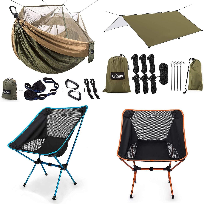 購入 Sunyear Camping Hammock with Net Bug Mosquito