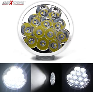 Allextreme EX12FZ1 12 LED Round FogLight Off-Road Driving Spot Lamp Headlight for Motorcycle SUV Jeep Car Truck (24W, White Light, 1 PC)