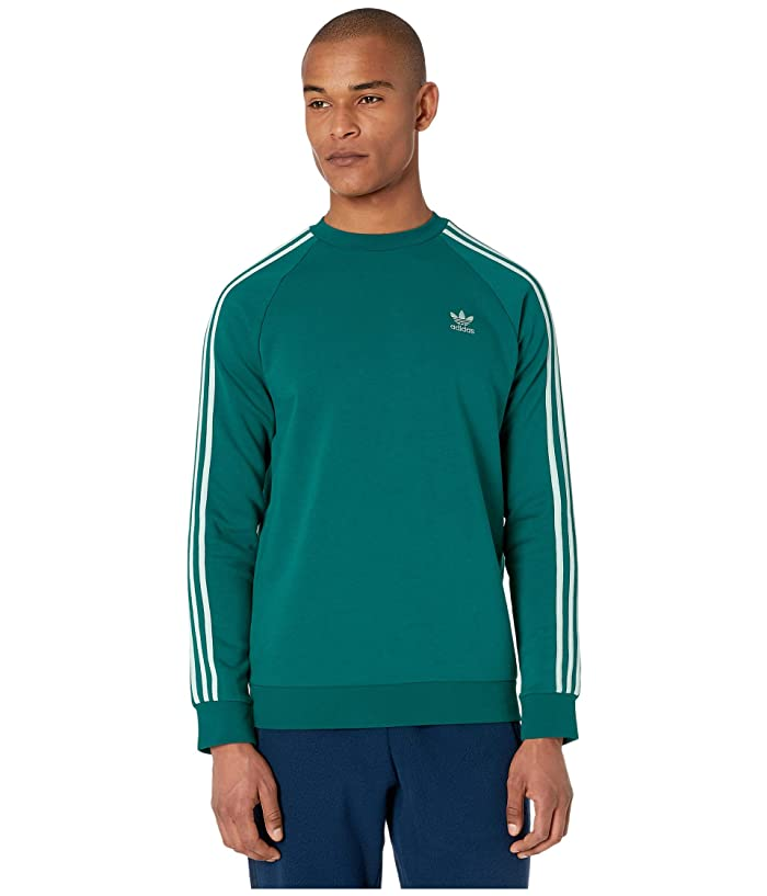 adidas Originals  3-Stripes Crew (Noble Green/Vapour Green) Mens Clothing
