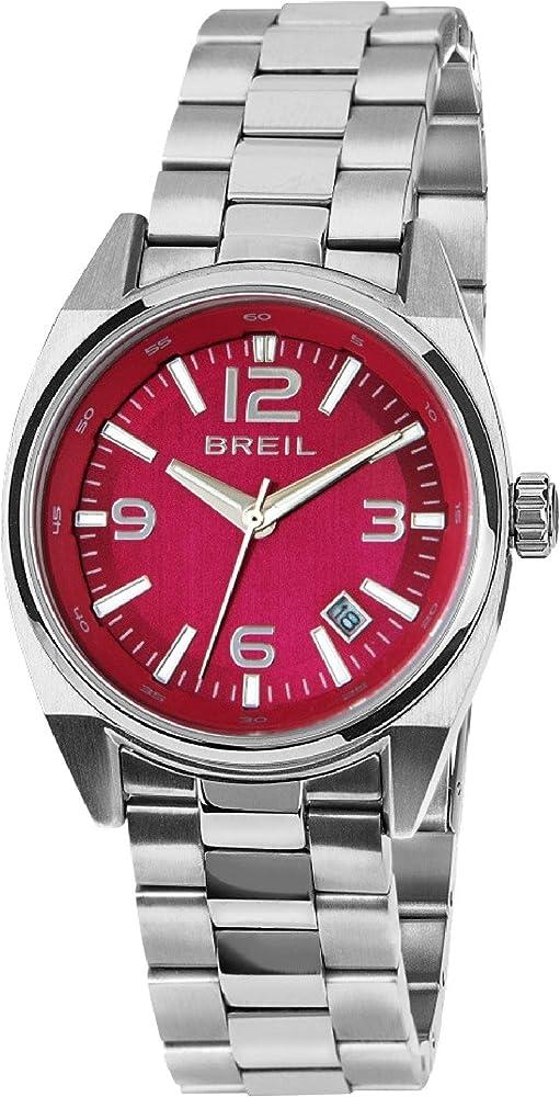 Orologio breil donna master quadrante rosso e bracciale in acciaio TW1412