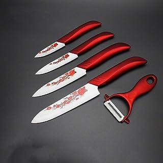 Couteau en céramique Couteaux de cuisine Set 3 4 5 6 pouces Éplucheur Zirconia Blanc Blade Blanc Chef Couteau Vege Cuisine...