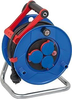 Brennenstuhl Garant IP44 Gewerbe-/Baustellen-Kabeltrommel 25 m Kabel in schwarz, aus Spezialkunststoff, Baustelleneinsatz und ständiger Einsatz im Außenbereich