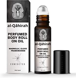 CONCOCTED Al-Qahirah Alcohol-Free Body Roll-on Unisex Natural Perfume with Magnolia Absolute, Frankincense & Clove oils in...