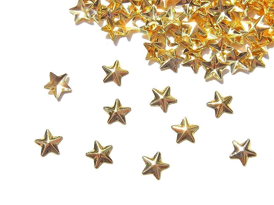 くすぐったいジュラシックパークウェイトレス【jewel】mp12 ゴールド メタルスタッズ Lサイズ 星10個入り ネイルアートパーツ レジンパーツ