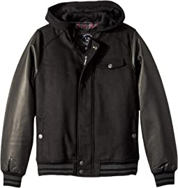 Dylan Wool Varsity Jacket w/ Faux Leather Sleeves (Toddler)