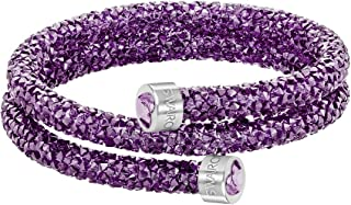 Crystaldust Heart Double Bangle - Purple - 5278497