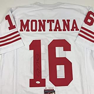 09ee95443 Autographed Signed Joe Montana San Francisco White Football Jersey JSA COA
