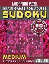 Sudoku Medium: suduko lover | Medium sudoku books Puzzles and Solutions Large Print Perfect for Seniors (Sudoku Brain Games Puzzles Book Large Print Vol.36)