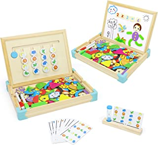 Juguetes Montessori 5 Años Juego de Lógica Puzzle de Madera Magnetico Infantiles Tablero De Dibujo Juegos de Mesa Animales...