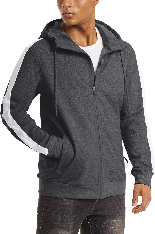 YUCOLEN Men's Hooded Sweatshirt Full service Hoodie Zip sold out Pullover Fleece